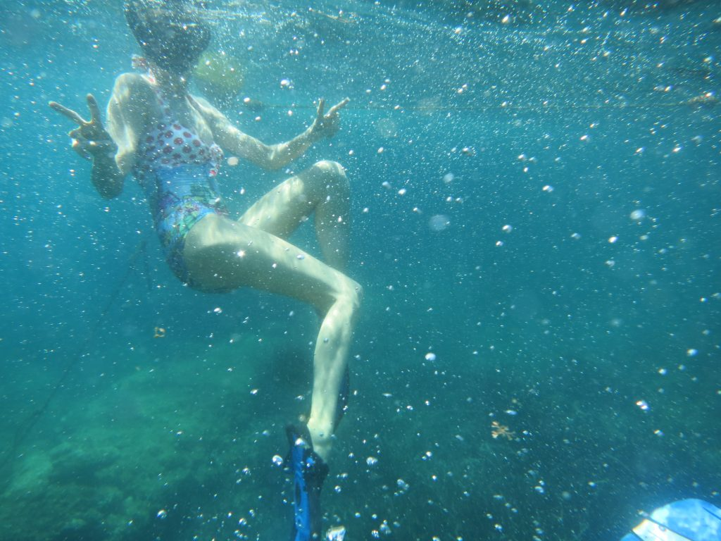 Alexandra Lapp snorkeling