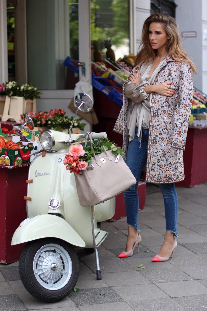 Alexandra Lapp wearing Steffen Schraut, True Religion, Manolo Blahnik, Hermès