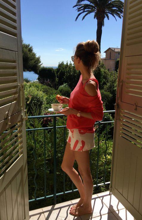 Alexandra Lapp wearing loungewear from Juvia