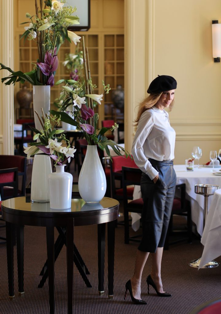 Alexandra Lapp wearing culottes from Tigha, Steffen Schraut, Asos, Christian Louboutin