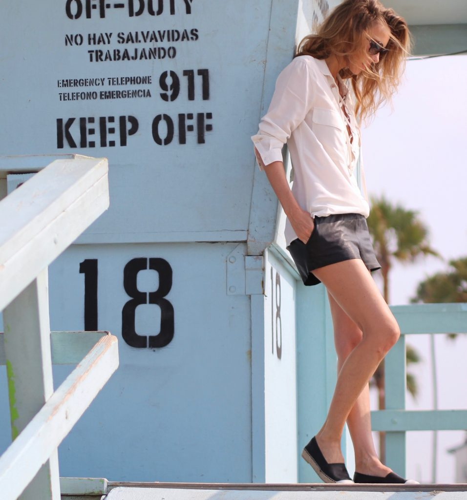 Alexandra Lapp wearing SET, Espadrij, Chanel, Bits and Pieces, Tigha at Venice Beach, Los Angeles
