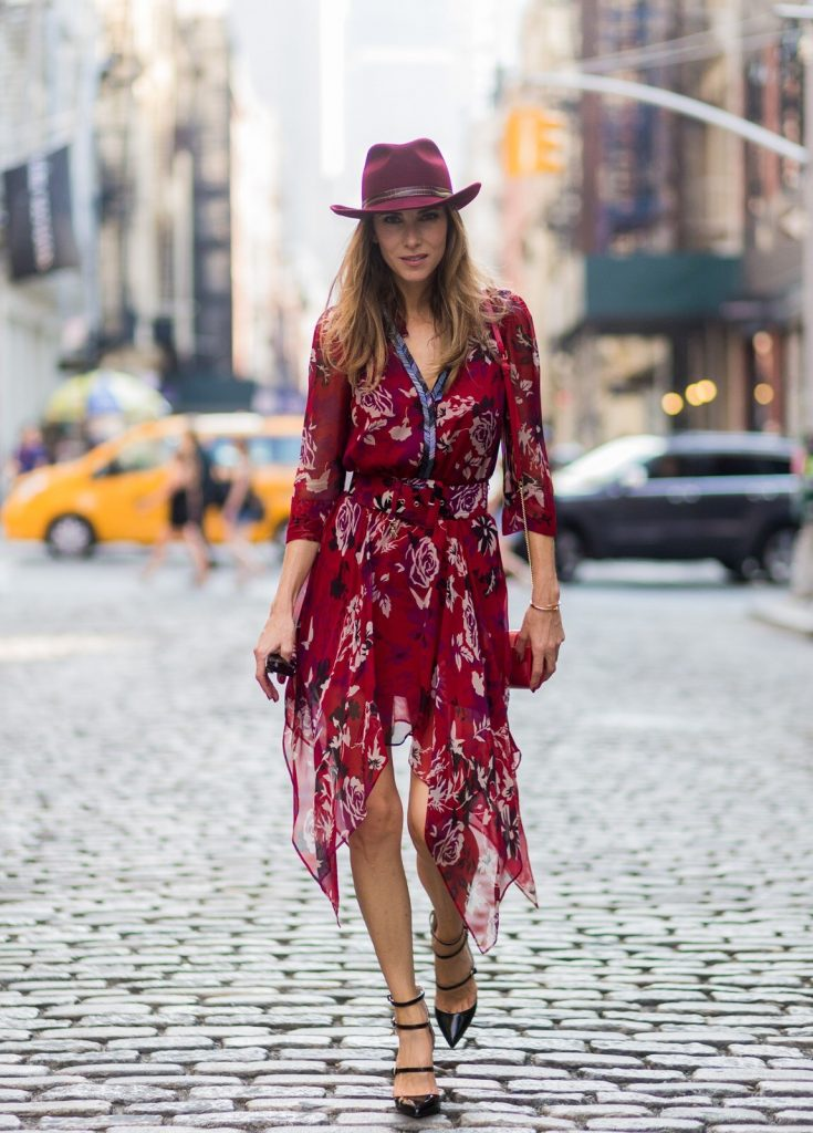 Alexandra Lapp wearing Patrizia Pepe in Soho, New York during New York Fashion Week, NYFW 2016.