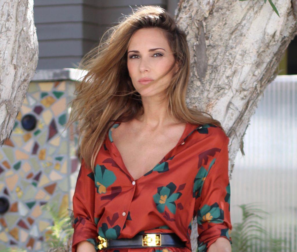 Alexandra Lapp wearing La Martina, IWC, Valentino, Hermes at the Venice Canal Los Angeles