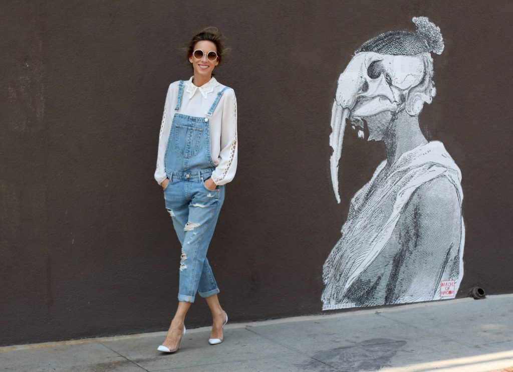 Alexandra Lapp wearing Steffen Schraut, True Religion, Gianvito Rossi at Abbot Kinney In Venice Beach, Los Angeles