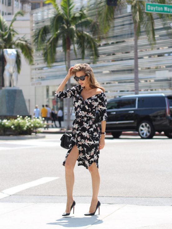 Alexandra Lapp wearing Jadicted, Celine, Christian Louboutin, Chanel on Rodeo Drive.