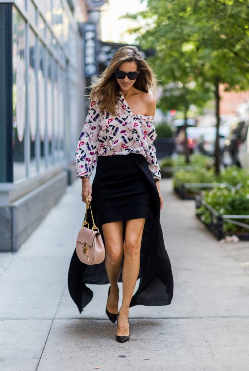 Tigha skirt, Jadicted blouse, Chloe bag, Celine sunglasses, Christian Louboutin pumps