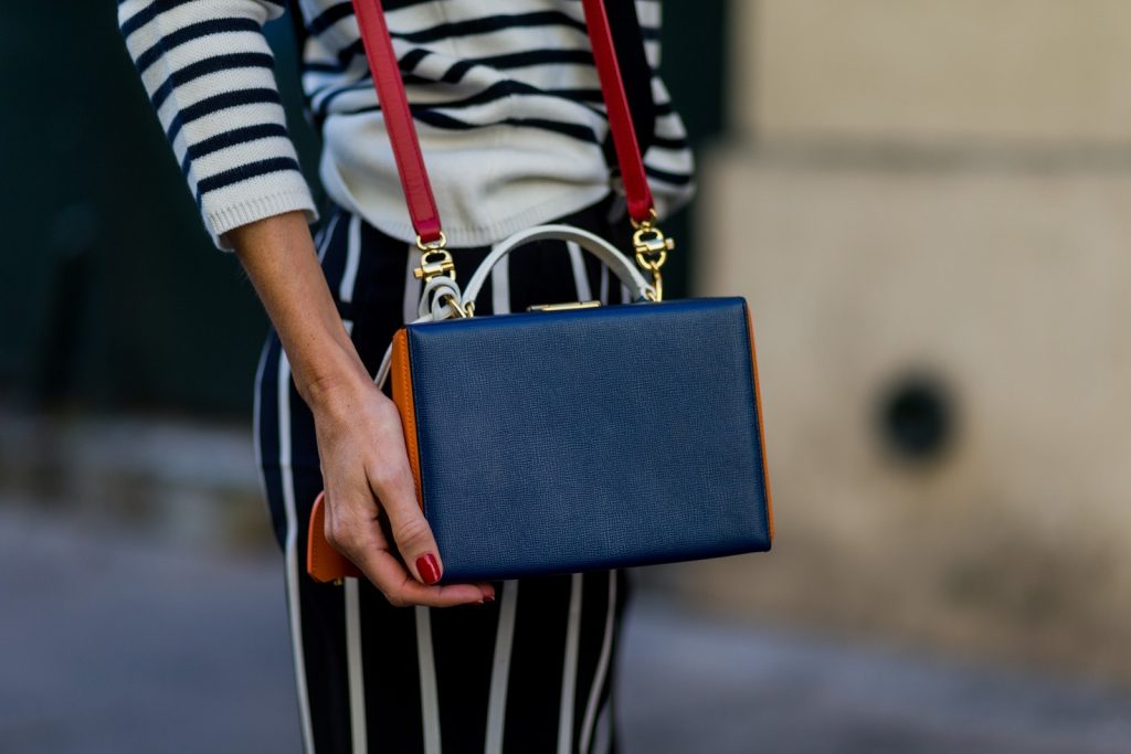 PARIS, FRANCE - OCTOBER 01: German model and fashion blogger Alexandra Lapp (@alexandralapp_) wearing striped jumper from Steffen Schraut, striped pants from Emilio Pucci, suspenders H&M, Gianvito Rossi shoes and Mark Cross bag on October 1, 2016 in Paris, France. (Photo by Christian Vierig/Getty Images) *** Local Caption *** Alexandra Lapp