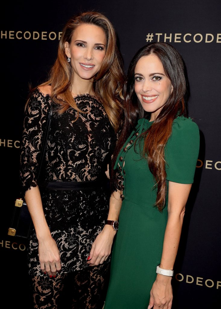GENEVA, SWITZERLAND - JANUARY 16: Alexandra Lapp and Sandra Bauknecht at the IWC booth during the launch of the Da Vinci Novelties from the Swiss luxury watch manufacturer IWC Schaffhausen at the Salon International de la Haute Horlogerie (SIHH) 2017 on January 16, 2017 in Geneva. (Photo by Harold Cunningham/Getty Images for IWC)
