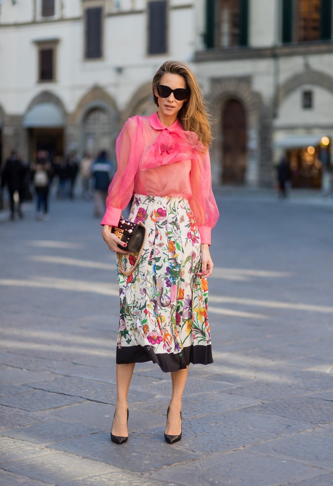 Florence Italy January 11 German Fashion Blogger And Model Alexandra Lapp Is Wearing