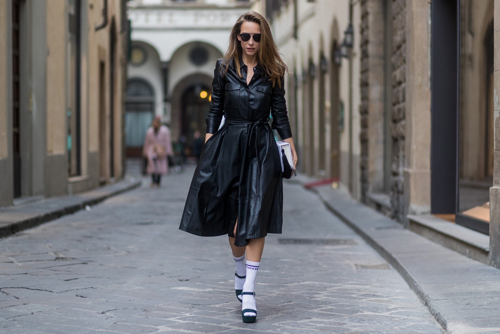 2fed9b94 ... wearing · FLORENCE, ITALY - JANUARY 11: German fashion blogger and  model Alexandra Lapp, ...