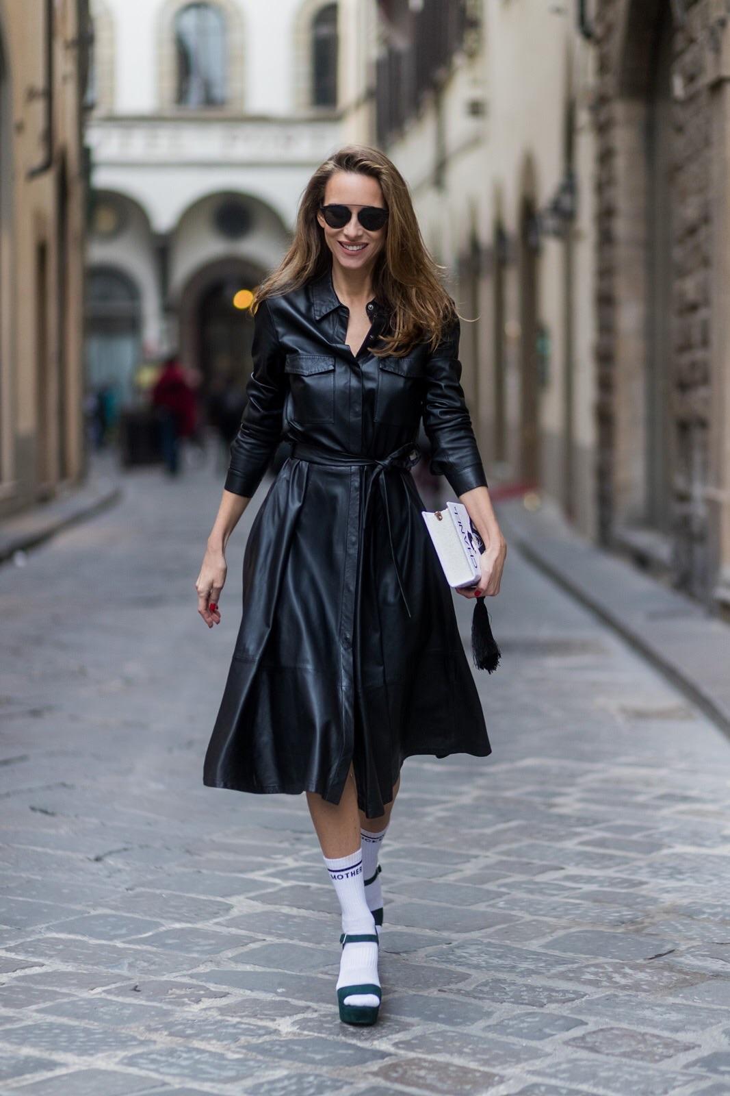 Leather Shirt Dress Florence Blog Alexandra Lapp