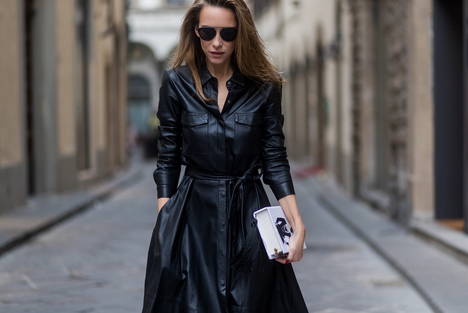 f2cce0def1 LEATHER SHIRT DRESS