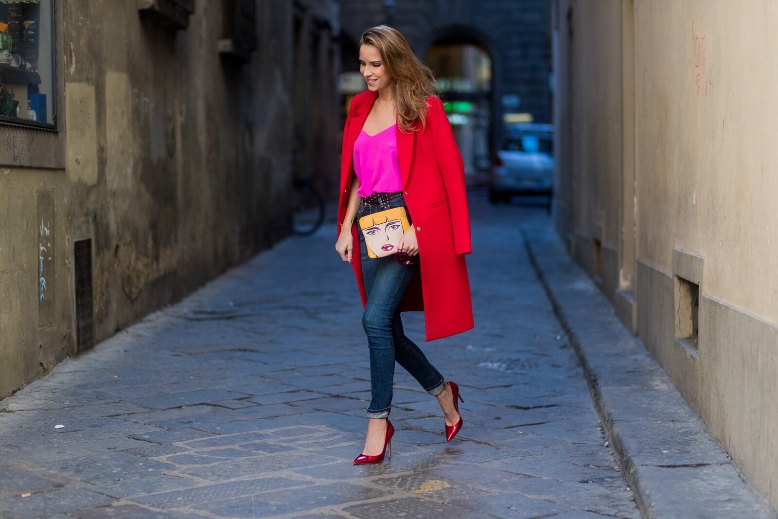 Red Blazer Coat Blog Alexandra Lapp