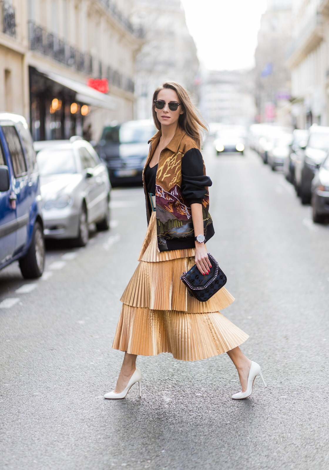 Pleated Skirt Amp Bomber Jacket Blog Alexandra Lapp