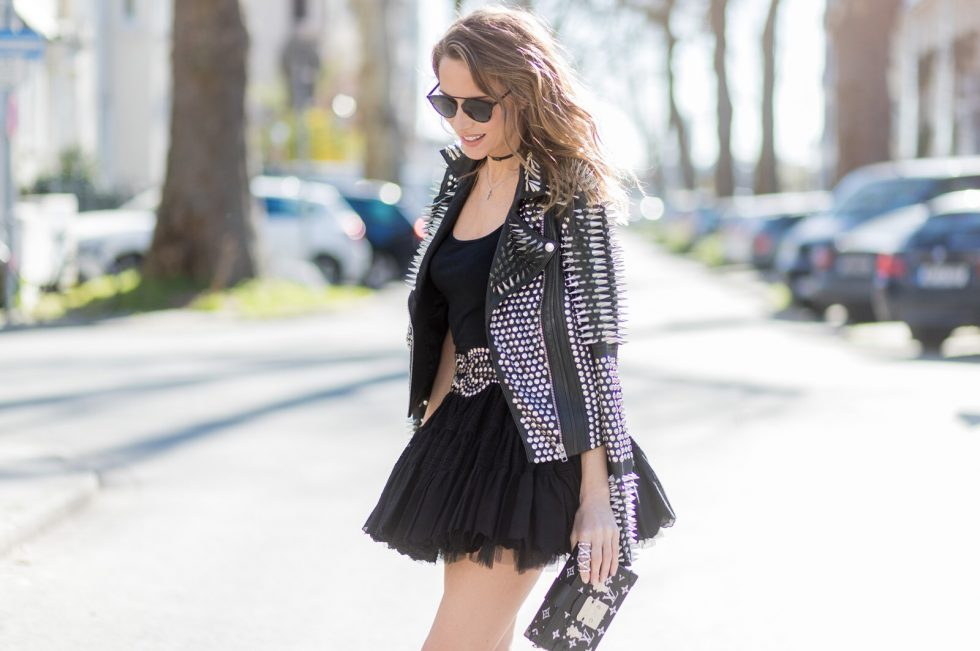 Rock Style Studded Leather Jacket Blog Alexandra Lapp