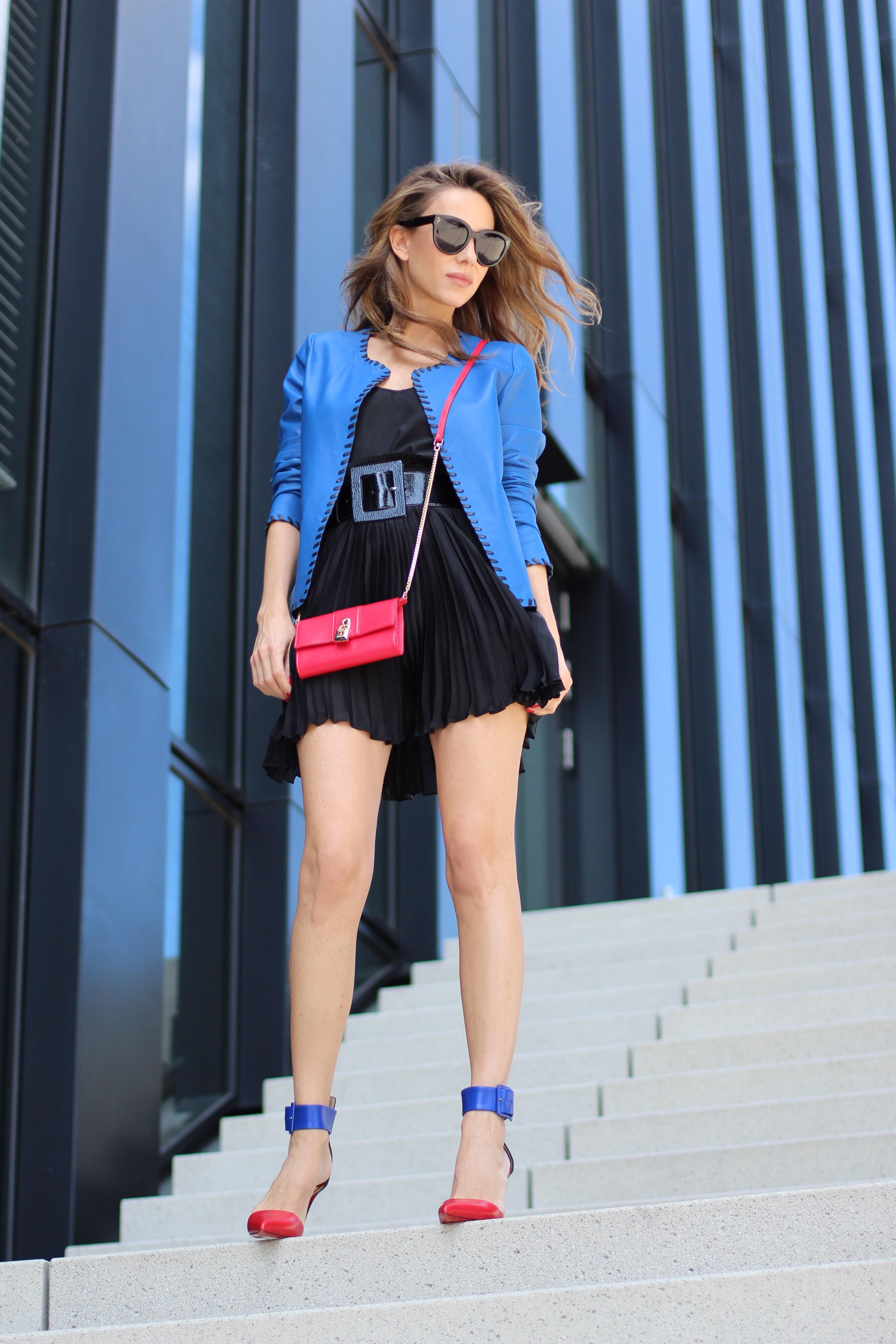 Leather Jacket Pleated Skirt Blog Alexandra Lapp