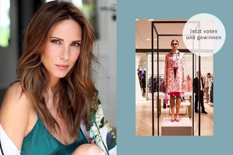 Model and Blogger Alexandra Lapp visiting the Breuninger Pre-Opening Women's Premium World and presenting her Blogger's choice on July 20th in Düsseldorf.