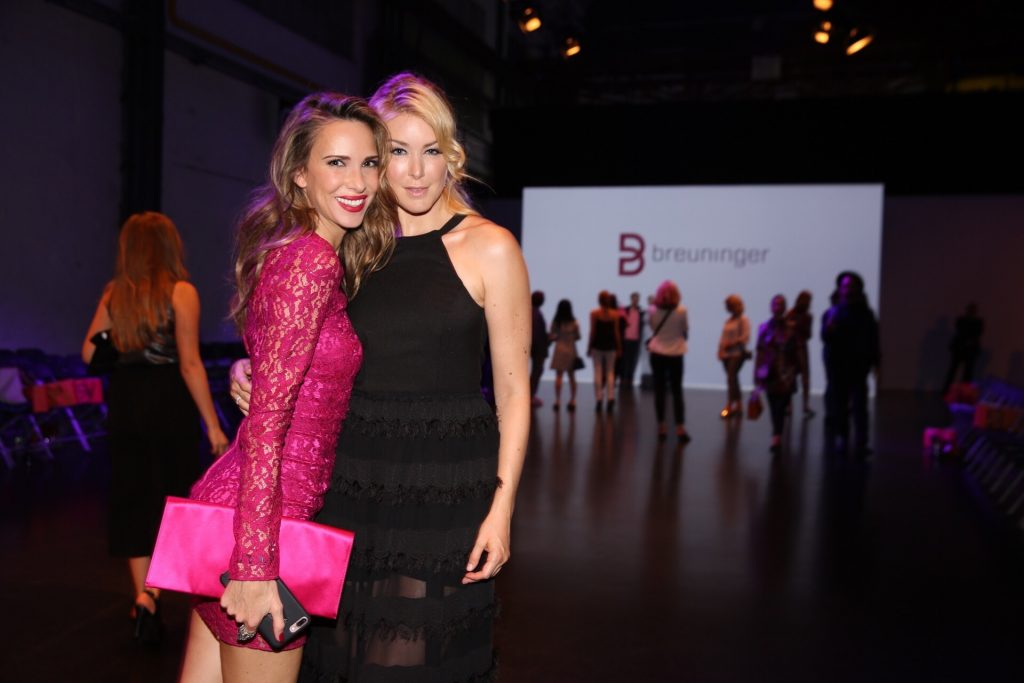 Model and Blogger Alexandra Lapp and Nina Ensmann during the Fashion Show at Breuninger meets Platform-Fashion on July 21st 2017 in Düsseldorf, Germany. (photo credit - Uwe Erensmann)