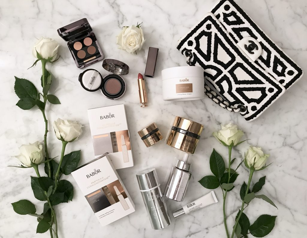 Model and Blogger Alexandra Lapp showing her daily beauty routine by using Babor products.