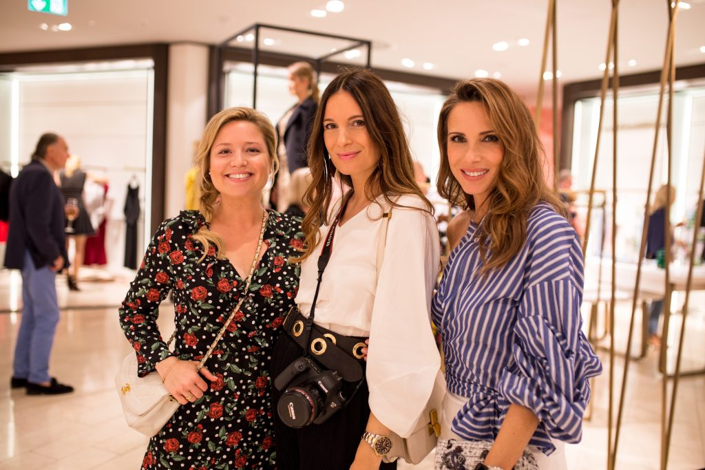 Actress Caroline Frier, Blogger Lena Terlutter and Model and Blogger Alexandra Lapp visiting the Breuninger Pre-Opening Women's Premium World on July 20th in Düsseldorf.
