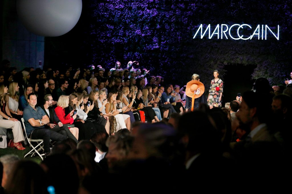 BERLIN, GERMANY - JULY 04: Models walk the runway at the Marc Cain Fashion Show Spring/Summer 2018 at ewerk on July 4, 2017 in Berlin, Germany. (Photo by Franziska Krug/Getty Images for Marc Cain)