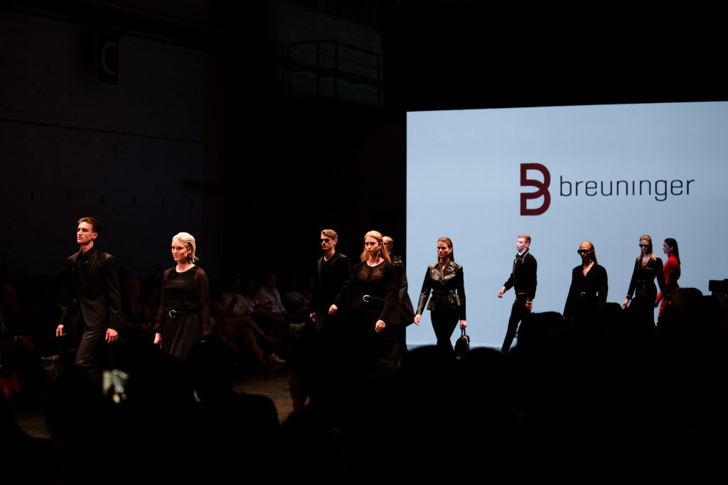 Fashion Show at Breuninger meets Platform-Fashion on July 21st 2017 in Düsseldorf, Germany.