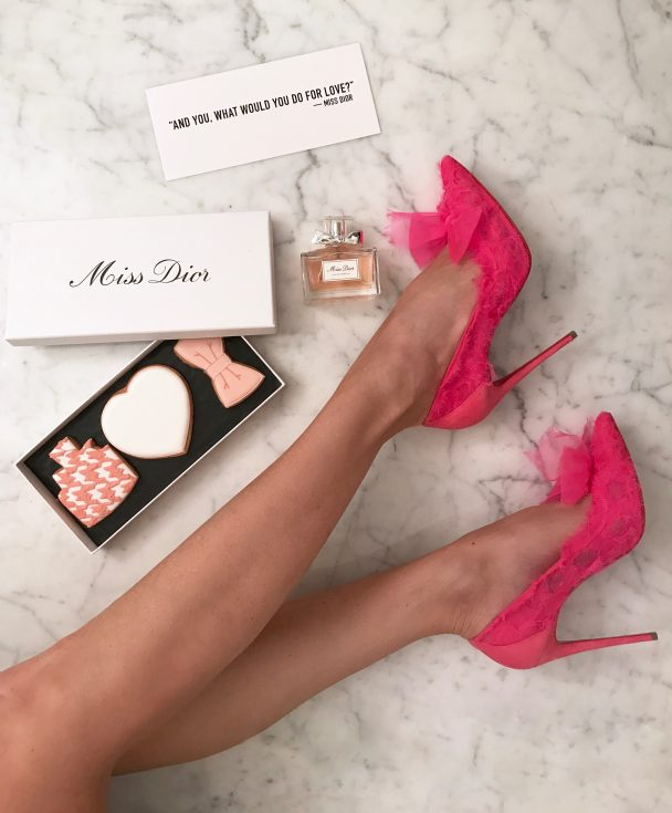 Model and Blogger Alexandra Lapp wearing Christian Louboutin and introducing the new Dior Eau de Parfum from Dior, called Miss Dior.