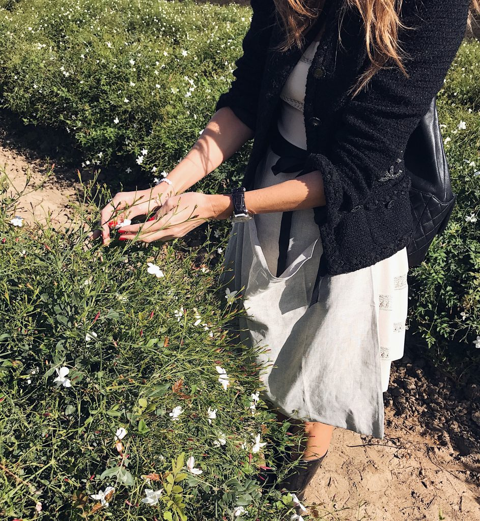 Alexandra Lapp exploring Grasse in France with Chanel for the new fragrance Gabrielle Chanel. GRASSE, FRANCE; September 2017