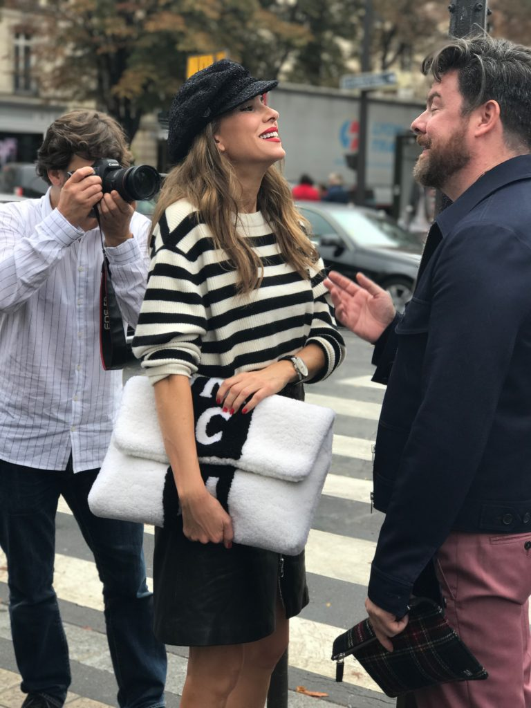 Alexandra Lapp and Nino Cerone during Paris Fashion Week with DS 3 Automobiles on a DS 3 Fashion Tour in Paris; PARIS; FRANCE; PFW 2017