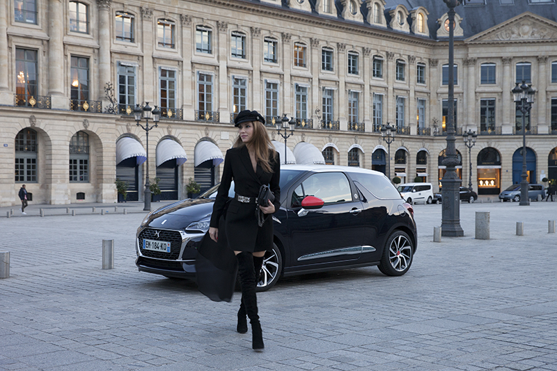 Alexandra Lapp during Paris Fashion Week with DS 3 Automobiles on a DS 3 Fashion Tour in Paris; PARIS; FRANCE; PFW 2017