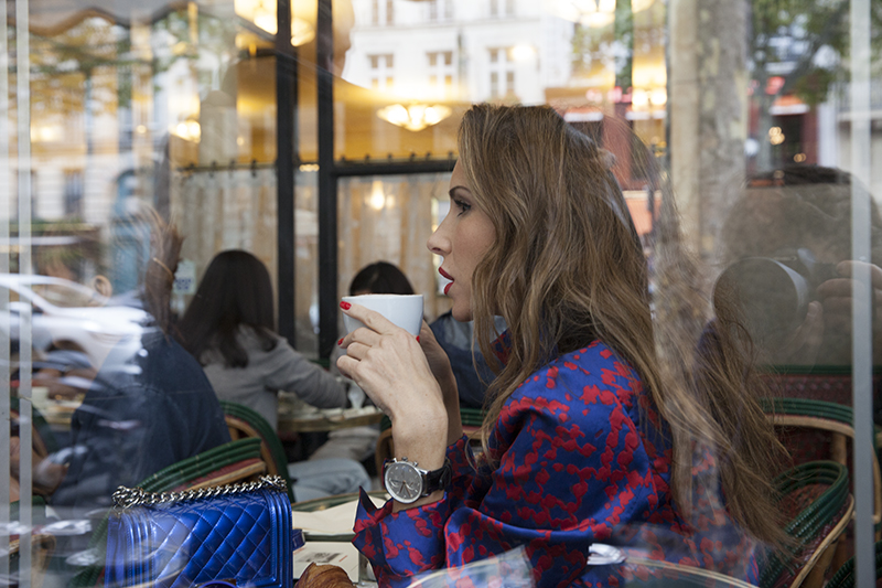 Alexandra Lapp during Paris Fashion Week with DS 3 Automobiles on a DS 3 Fashion Tour in Paris; PARIS; FRANCE; PFW 2017