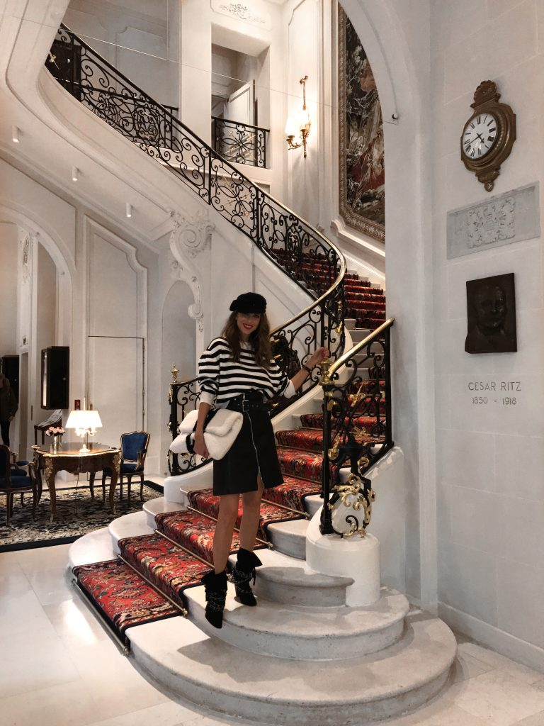 Alexandra Lapp at the Ritz Hotel during Paris Fashion Week with DS 3 Automobiles on a DS 3 Fashion Tour in Paris; PARIS; FRANCE; PFW 2017