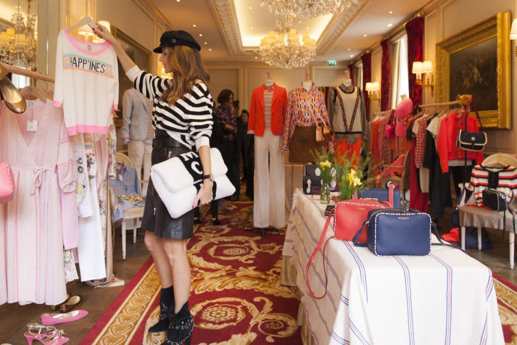 Alexandra Lapp at Inès de la Fressange Showroom at the Ritz Hotel during Paris Fashion Week with DS 3 Automobiles on a DS 3 Fashion Tour in Paris; PARIS; FRANCE; PFW 2017
