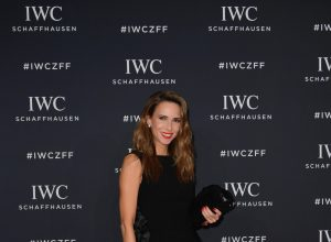 Alexandra Lapp attending the Zurich Film Festival, ZFF with IWC wearing the IWC Portofino Automatic Moon Phase 37, in 18 carat red gold with 66 sparkling diamonds, on September 30th, 2017.