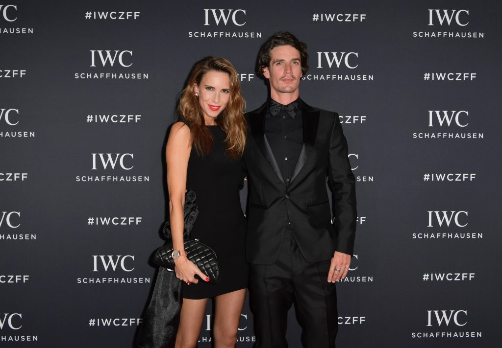 Patrick Seabase and Alexandra Lapp attending the Zurich Film Festival, ZFF with IWC wearing the IWC Portofino Automatic Moon Phase 37, in 18 carat red gold with 66 sparkling diamonds, on September 30th, 2017.