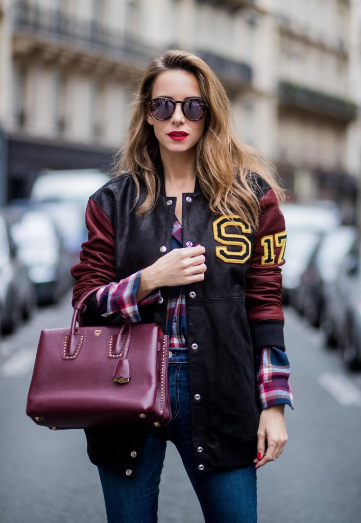 Oversized College Jacket Blog Alexandra Lapp