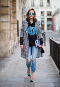 Alexandra Lapp wearing selfmade fashion, a self-made hoodie in black with a hand-painted Russian Caviar motif from Wodka Ogurez, a book clutch with 'Alice adventures in Wonderland' handmade from MD Clutch, vintage Re Done Levis, blue aviator sunglasses by Ray Ban, blue and black heels from Saint Laurent and a plaid coat from SET Fashion is seen during Paris Fashion Week Spring/Summer 2018 on September 28, 2017 in Paris, France. BILD EINBETTEN LIZENZ 1 of 10 Anson Lau is seen before the Ann Demeulemeester fashion show during Paris Fashion week Womenswear SS18 on September 28, 2017 in Paris, France. Anson Lau is seen before the Ann Demeulemeester fashion show during Paris Fashion week Womenswear SS18 on September 28, 2017 in Paris, France. BILD EINBETTEN LIZENZ 2 of 10 Model Cindy Bruna wearing denim jeans, ankle boots, blazer and white tshirt is seen after the Balmain fashion show during Paris Fashion week Womenswear SS18 on September 28, 2017 in Paris, France. Model Cindy Bruna wearing denim jeans, ankle boots, blazer and white tshirt is seen after the Balmain fashion show during Paris Fashion week Womenswear SS18 on September 28, 2017 in Paris, France. BILD EINBETTEN LIZENZ 3 of 10 Model Cindy Bruna wearing denim jeans, ankle boots, blazer and white tshirt is seen after the Balmain fashion show during Paris Fashion week Womenswear SS18 on September 28, 2017 in Paris, France. Model Cindy Bruna wearing denim jeans, ankle boots, blazer and white tshirt is seen after the Balmain fashion show during Paris Fashion week Womenswear SS18 on September 28, 2017 in Paris, France. BILD EINBETTEN LIZENZ 4 of 10 Irene Kim is seen before the Balmain fashion show during Paris Fashion week Womenswear SS18 on September 28, 2017 in Paris, France. Irene Kim is seen before the Balmain fashion show during Paris Fashion week Womenswear SS18 on September 28, 2017 in Paris, France. BILD EINBETTEN LIZENZ 5 of 10 Dani Alves is seen after the Balmain fashion show during Paris Fashion week Wome