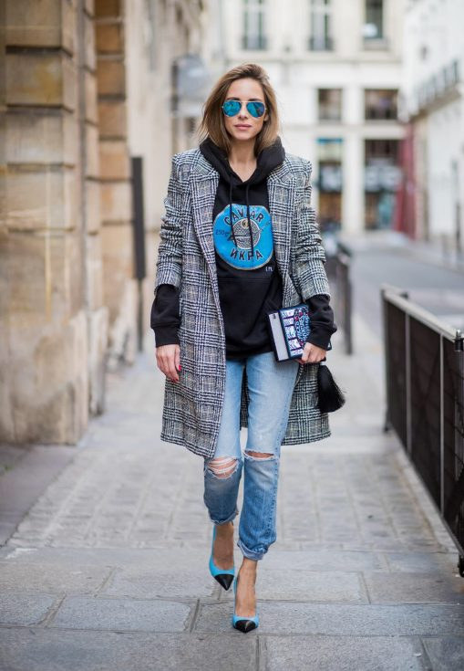 Alexandra Lapp wearing selfmade fashion, a self-made hoodie in black with a hand-painted Russian Caviar motif from Wodka Ogurez, a book clutch with 'Alice adventures in Wonderland' handmade from MD Clutch, vintage Re Done Levis, blue aviator sunglasses by Ray Ban, blue and black heels from Saint Laurent and a plaid coat from SET Fashion is seen during Paris Fashion Week Spring/Summer 2018 on September 28, 2017 in Paris, France. BILD EINBETTEN LIZENZ 1 of 10 Anson Lau is seen before the Ann Demeulemeester fashion show during Paris Fashion week Womenswear SS18 on September 28, 2017 in Paris, France. Anson Lau is seen before the Ann Demeulemeester fashion show during Paris Fashion week Womenswear SS18 on September 28, 2017 in Paris, France. BILD EINBETTEN LIZENZ 2 of 10 Model Cindy Bruna wearing denim jeans, ankle boots, blazer and white tshirt is seen after the Balmain fashion show during Paris Fashion week Womenswear SS18 on September 28, 2017 in Paris, France. Model Cindy Bruna wearing denim jeans, ankle boots, blazer and white tshirt is seen after the Balmain fashion show during Paris Fashion week Womenswear SS18 on September 28, 2017 in Paris, France. BILD EINBETTEN LIZENZ 3 of 10 Model Cindy Bruna wearing denim jeans, ankle boots, blazer and white tshirt is seen after the Balmain fashion show during Paris Fashion week Womenswear SS18 on September 28, 2017 in Paris, France. Model Cindy Bruna wearing denim jeans, ankle boots, blazer and white tshirt is seen after the Balmain fashion show during Paris Fashion week Womenswear SS18 on September 28, 2017 in Paris, France. BILD EINBETTEN LIZENZ 4 of 10 Irene Kim is seen before the Balmain fashion show during Paris Fashion week Womenswear SS18 on September 28, 2017 in Paris, France. Irene Kim is seen before the Balmain fashion show during Paris Fashion week Womenswear SS18 on September 28, 2017 in Paris, France. BILD EINBETTEN LIZENZ 5 of 10 Dani Alves is seen after the Balmain fashion show during Paris Fashion week Womenswear SS18 on September 28, 2017 in Paris, France. Dani Alves is seen after the Balmain fashion show during Paris Fashion week Womenswear SS18 on September 28, 2017 in Paris, France. BILD EINBETTEN LIZENZ 6 of 10 Model Sara Sampaio is seen after the Balmain fashion show during Paris Fashion week Womenswear SS18 on September 28, 2017 in Paris, France. Model Sara Sampaio is seen after the Balmain fashion show during Paris Fashion week Womenswear SS18 on September 28, 2017 in Paris, France. BILD EINBETTEN LIZENZ 7 of 10 Caroline Daur is seen before the Balmain fashion show during Paris Fashion week Womenswear SS18 on September 28, 2017 in Paris, France. Caroline Daur is seen before the Balmain fashion show during Paris Fashion week Womenswear SS18 on September 28, 2017 in Paris, France. BILD EINBETTEN LIZENZ 8 of 10 Model Soo Joo Park is seen after the Balmain fashion show during Paris Fashion week Womenswear SS18 on September 28, 2017 in Paris, France. Model Soo Joo Park is seen after the Balmain fashion show during Paris Fashion week Womenswear SS18 on September 28, 2017 in Paris, France.