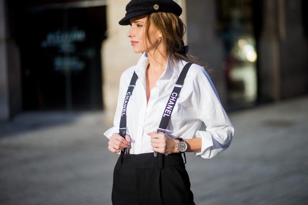 Chanel Suspenders Lady Boss Blog Alexandra Lapp