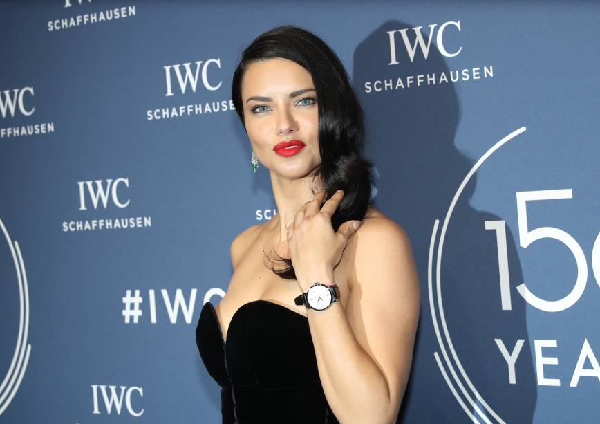 GENEVA, SWITZERLAND - JANUARY 16: 150 YEARS OF IWC SCHAFFHAUSEN, Adriana Lima at the IWC Gala night during the Maison's launch of its Jubilee Collection at the Salon International de la Haute Horlogerie (SIHH) on January 16, 2018 in Geneva, Switzerland. #IWC150 (Photo by Harold Cunningham/Getty Images for IWC)