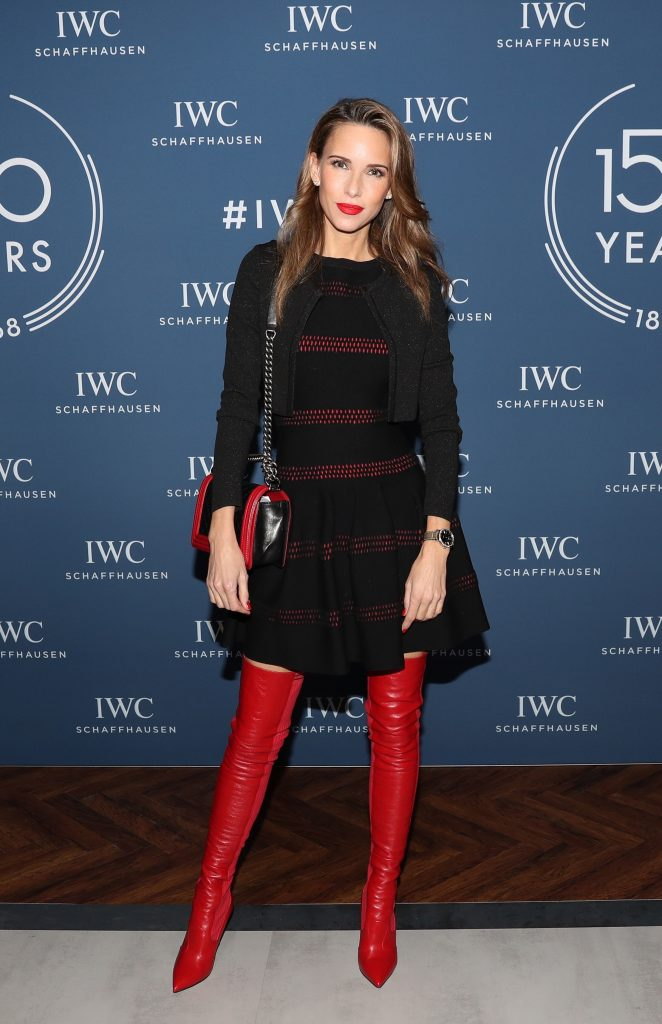 GENEVA, SWITZERLAND - JANUARY 15: 150 YEARS OF IWC SCHAFFHAUSEN, Alexandra Lapp at the IWC booth during the Maison's launch of its Jubilee Collection at the Salon International de la Haute Horlogerie (SIHH) on January 15, 2018 in Geneva, Switzerland. #IWC150 (Photo by Harold Cunningham/Getty Images for IWC)