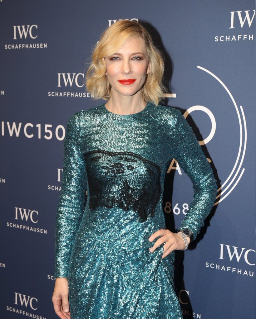 GENEVA, SWITZERLAND - JANUARY 16: 150 YEARS OF IWC SCHAFFHAUSEN, Cate Blanchett at the IWC Gala night during the Maison's launch of its Jubilee Collection at the Salon International de la Haute Horlogerie (SIHH) on January 16, 2018 in Geneva, Switzerland. #IWC150 (Photo by Harold Cunningham/Getty Images for IWC)