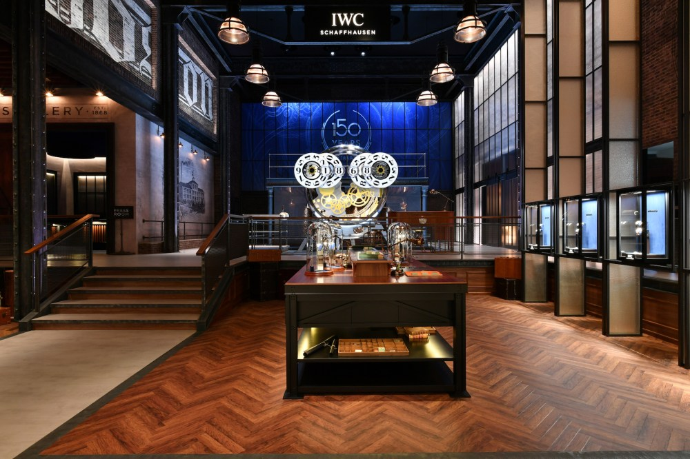 GENEVA, SWITZERLAND - JANUARY 15: 150 YEARS OF IWC SCHAFFHAUSEN, A general view at the IWC booth during the Maison's launch of its Jubilee Collection at the Salon International de la Haute Horlogerie (SIHH) on January 15, 2018 in Geneva, Switzerland. #IWC150 (Photo by Harold Cunningham/Getty Images for IWC)