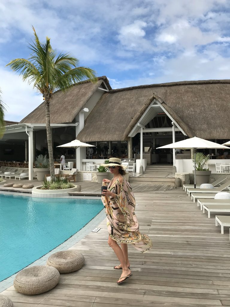 Alexandra Lapp during her Mauritius holidays at Lux Grand Gaube, May 2018.