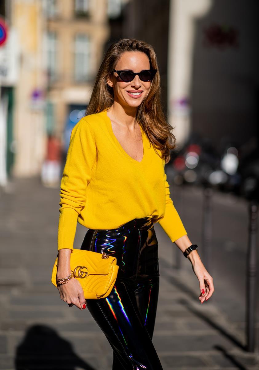 Vinyl Pants Bright Yellow Blog Alexandra Lapp