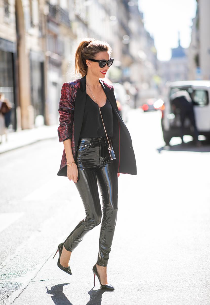 Faux Leather Pants Shiny Look Blog Alexandra Lapp