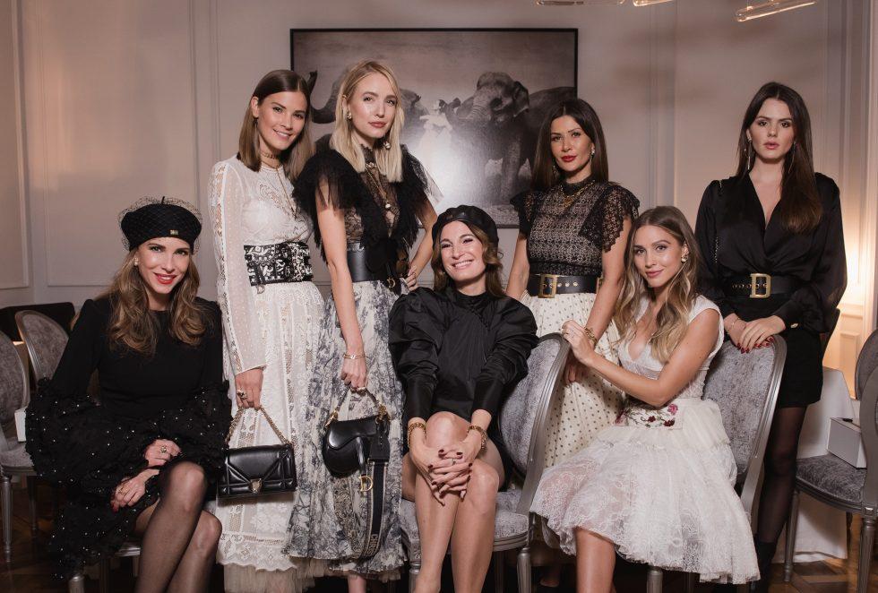 Alexandra Lapp at the Maison Christian Dior Christmas Dinner in Paris on November 28, 2018 in Paris, France.