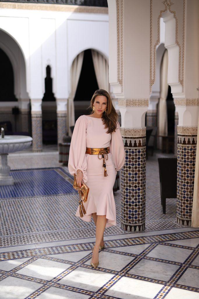 Alexandra Lapp at La Mamounia on November 27, 2018 in Marrakech, Morocco.