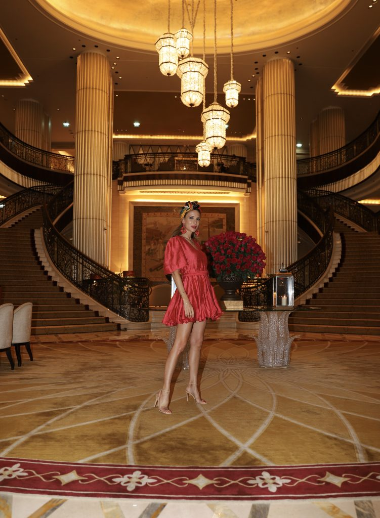 Alexandra Lapp enjoying a perfect time-out by One Luxury travel agency at the St. Regis in Abu Dhabi