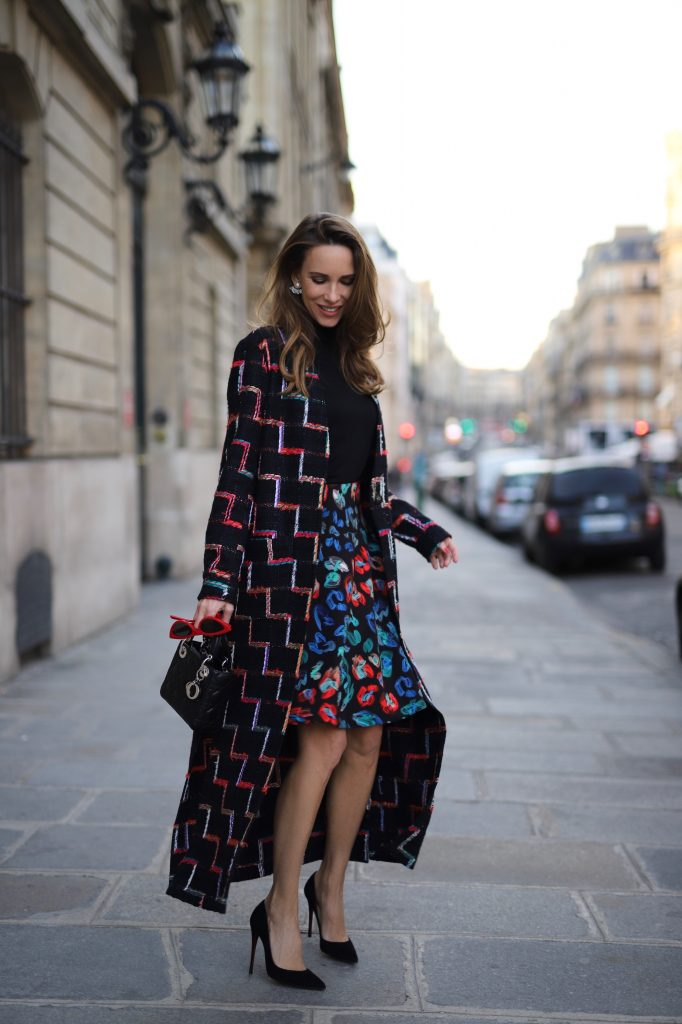 Model, Blogger and Influencer Alexandra Lapp is wearing Riani Fashion in Paris.